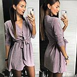 Женское платье из люрекса с поясом на запах (3 цвета), фото 6