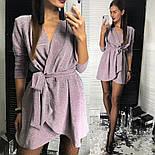 Женское платье из люрекса с поясом на запах (3 цвета), фото 10