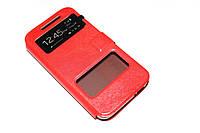 Кожаный чехол книжка для HTC Desire 616 красный, фото 1
