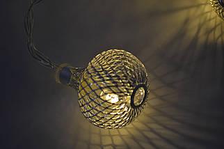 """Новогодняя гирлянда """"Шары"""" 8 LED, Белый теплый свет, фото 3"""