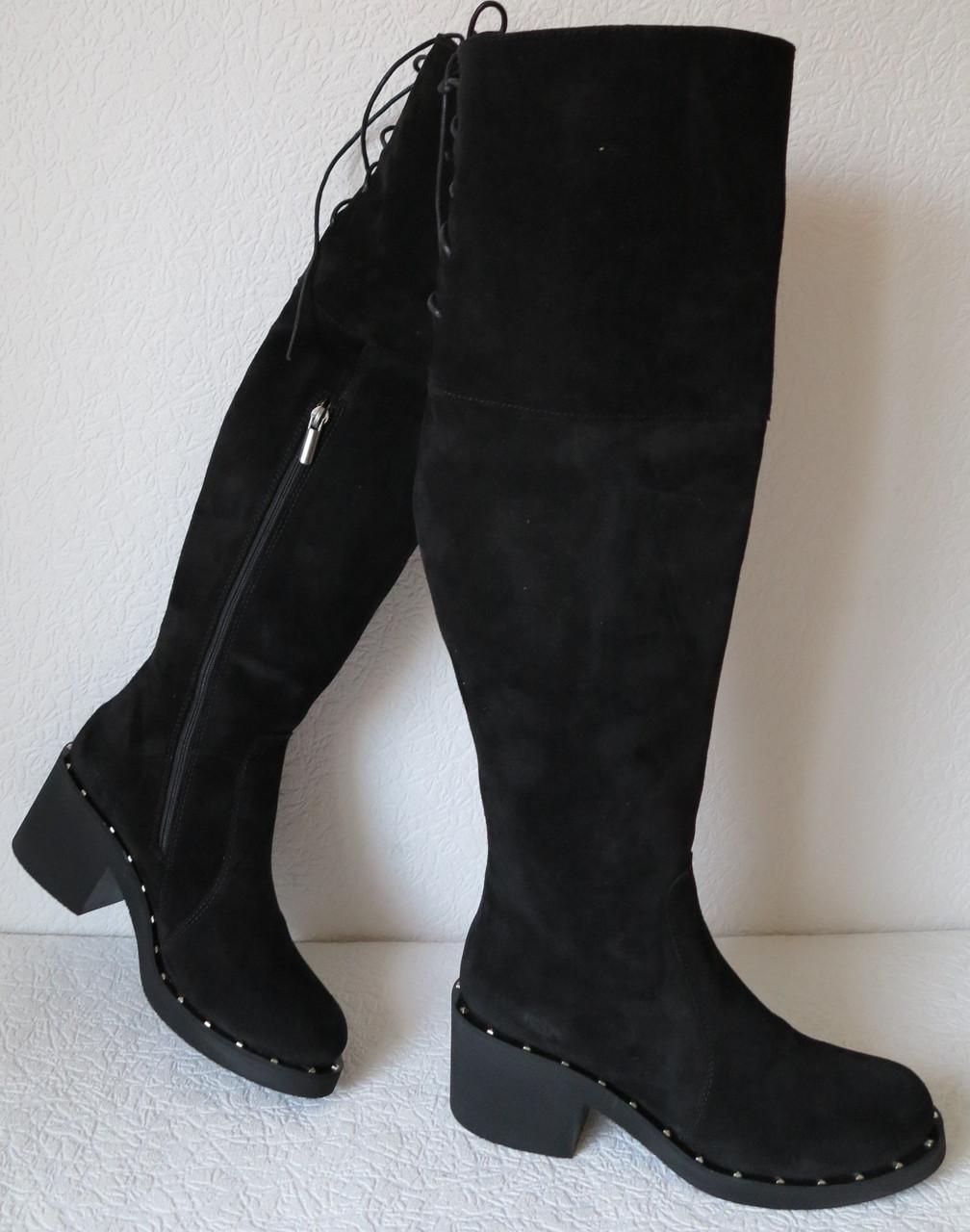 d24538d01 Зимние удобные замшевые ботфорты еврозима в стиле Baldinini низкий каблук .  - LIMODA.COM.