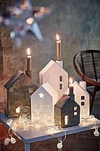 """Новогодняя гирлянда """"Шарики"""" 10 LED, Белый теплый свет, Диаметр 4 см, На пальчиковых батарейках, фото 3"""