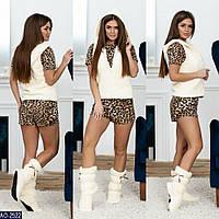 Женская махровая пижама  4-ка жилет и сапожки  домашний комплект 7 км Одесса 42-44, 46-48