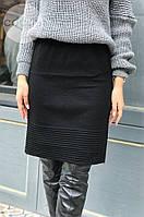 Женская теплая юбка из шерсти 4328 (р.44-50) черная, фото 1