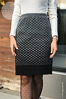 Жіноча тепла спідниця з вовни 4347 (р. 48-54), фото 1