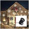 Лазерный проектор STAR SHOWER снежинки LED, фото 4