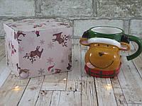 """Новогодняя кружка Олень 380 мл """"Санта"""" ( новогодняя чашка ), фото 1"""