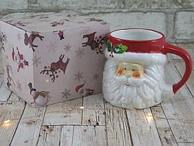 "Новогодняя чашка Дед мороз 380 мл ""Санта"" ( новогодняя кружка )"