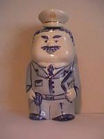 Подарочный набор Милиционер расписной штоф для водки 500 мл без стаканов гранёных 3 шт фарфор