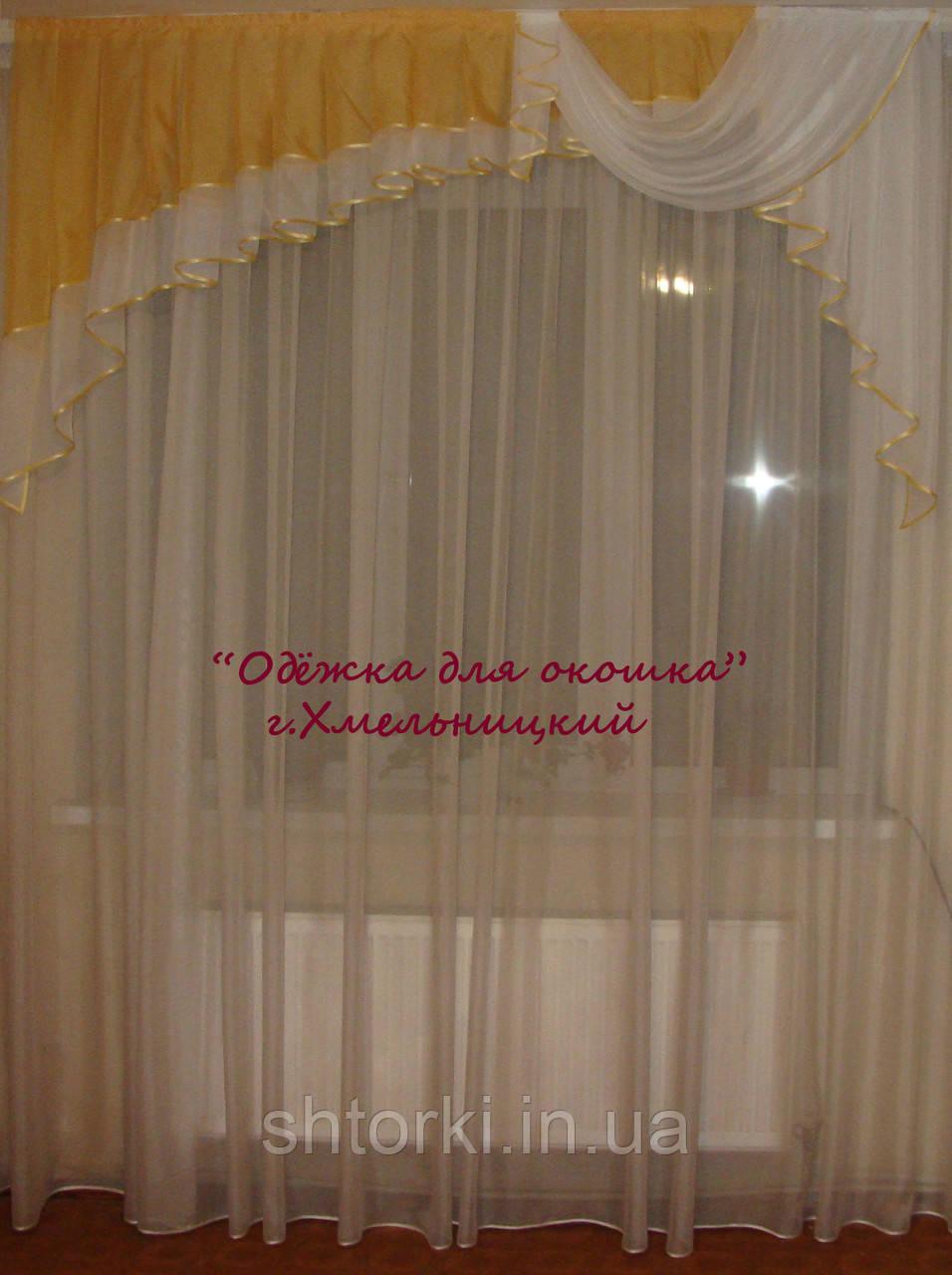 Ламбрикен Ассиметрия золото  2м Вуаль