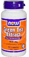 Экстракт зеленого чая, Now Foods, Green Tea Extract, 400 mg, 100 Caps