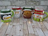 "Новогодняя чашка Снеговик 380 мл ""Санта"" ( новогодняя кружка ), фото 5"