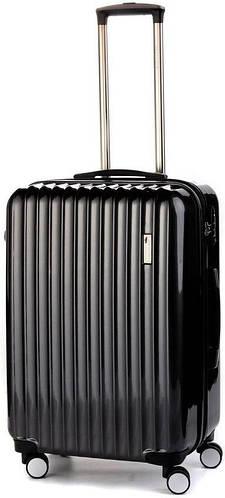 Пластиковый прочный средний чемодан на 4-х колесах 65/70 л. Sumdex (Самдекс) SWR-724CB черный