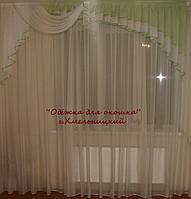 Ламбрикен Ассиметрия 2,5м салатовый прав Шифон, фото 1