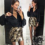 Женская юбка с пайетками и отдельно блуза шелковая, фото 4