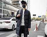 Теплое мужское пальто с воротником стойка, фото 2
