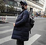 Теплое мужское пальто с воротником стойка, фото 3