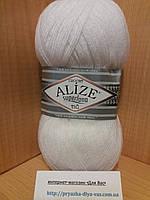 Зимняя пряжа (25%-шерсть,75%-акрил;100г/570м) Alıze Superlana TIĞ 55(белый)