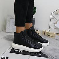 Высокие кроссовки черные женские  р.  37, фото 1