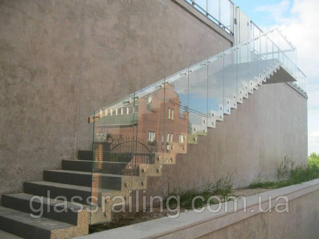 Скляне огородження сходів