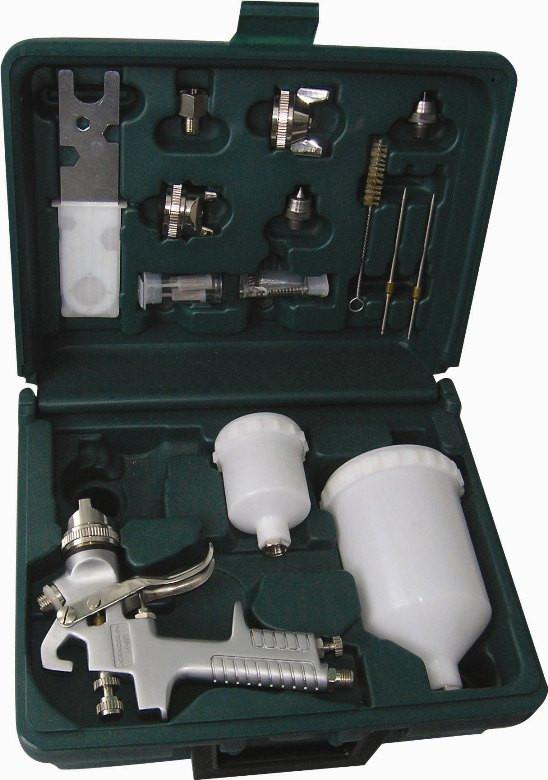 JA-6111K Набор Профессиональный краскопульт JA-6111 и аксессуары, 15 предметов