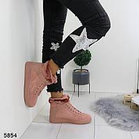 Стильные сникерсы зимние женские розовые  р. 37, 38, 40, фото 1