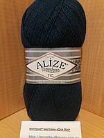 Зимняя пряжа (25%-шерсть,75%-акрил;100г/570м) Alıze Superlana TIĞ 125(тёмный петроль)