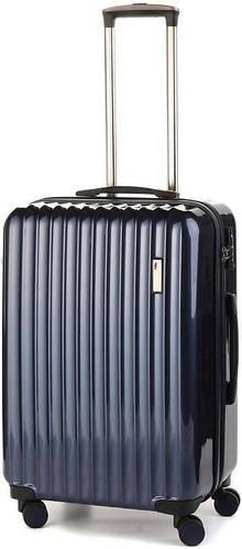 Прочный пластиковый средний чемодан на 4-х колесах 65/70 л. Sumdex (Самдекс) SWR-724NB синий