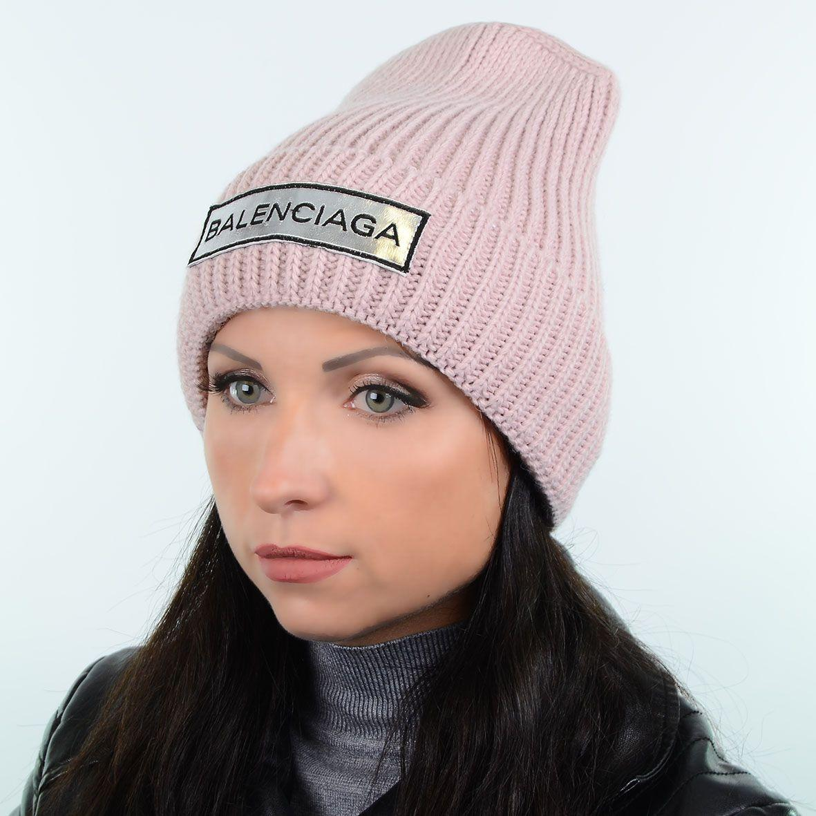 яркая и модная вязаная женская шапка с нашивкой Balanciaga 180583