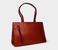 Сумка женская каркасная стильная красного цвета 3871ll
