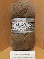 Зимняя пряжа (25%-шерсть,75%-акрил;100г/570м) Alıze Superlana TIĞ 697(светло-коричневый)
