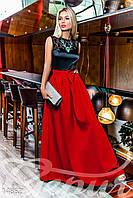 Изысканное вечернее платье с юбкой из габардина