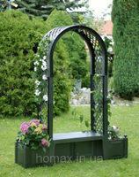 """Садовая арка """"Брюсель"""" с лавочкой, зеленая HW-09"""