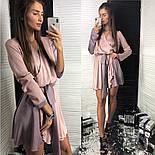 Женское двухцветное шелковое платье с поясом (2 цвета), фото 5