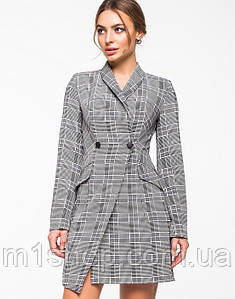 Женское платье-жакет в клетку (5139ie)