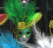 """Магнит на холодильник""""маска венецианская"""" (1 шт)(6 см)"""