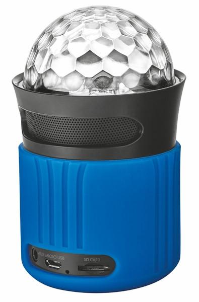 Портативная колонка Trust Dixxo Go Wireless Bluetooth Speaker with party lights blue