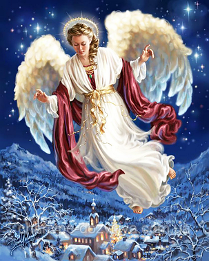 """Набор алмазной вышивки (мозаики) """"Ангел мира и добра"""", фото 2"""
