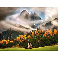 """Алмазная мозаика """"Часовня в горах"""", картина стразами 40*30см"""