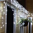 Новогодняя гирлянда Бахрома 500 LED, Белый холодный свет 24 м, 22,5W, фото 4