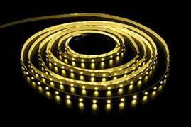 Светодиодная лента SMD 3528 120д/м. Желтая влагозащищённая