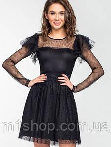 Женское платье из фатина и сетки (5147ie)