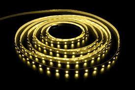 Светодиодная лента SMD 3528 120д/м. Желтая невлагозащищённая