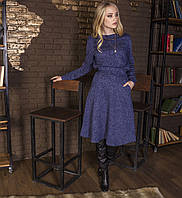 Костюм юбка + свитшот синий, арт.1034
