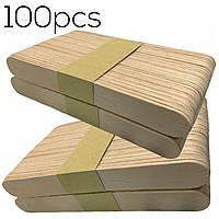 Шпатели косметологические (100шт/уп) одноразовые шпатели для нанесения воска