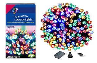 Новогодняя гирлянда 100 LED, Разноцветная, Длина 8 Метров
