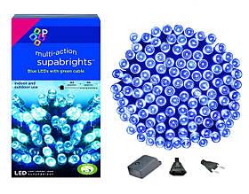 Новогодняя гирлянда 100 LED,Голубой, Длина 8 Метров
