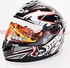 Шлем закрытый FXW HF-122 М- черный глянец с рисунком