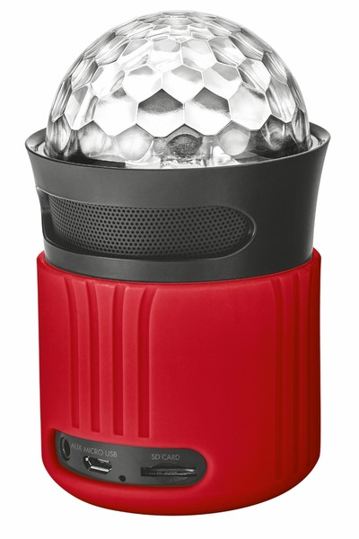 Портативная колонка Trust Dixxo Go Wireless Bluetooth Speaker with party lights Red