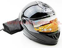Шлем закрытый FXW HF-122 L- черный глянец